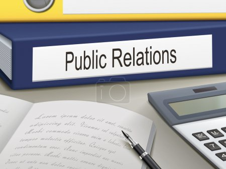 Illustration for Folder with public relations documents - Royalty Free Image