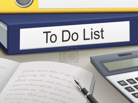 Illustration for Folder with to do list documents - Royalty Free Image