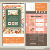 cuisine concept one page website design template