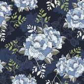 elegant peony seamless floral pattern background