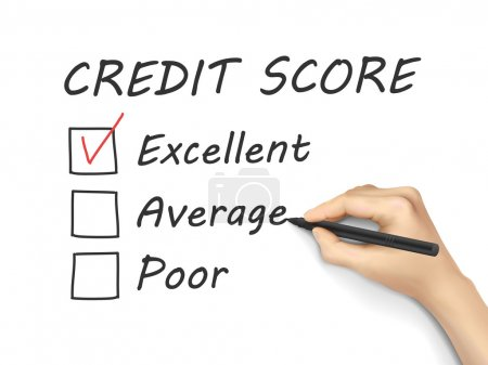 Credit score survey written