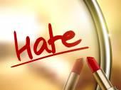 Hate word written