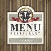 steak house restaurant menu design