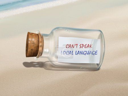 Can't speak local language message in a bottle
