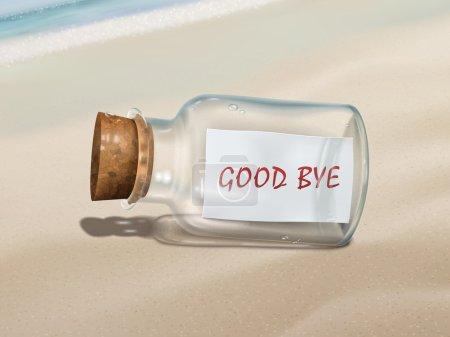 good bye message in a bottle