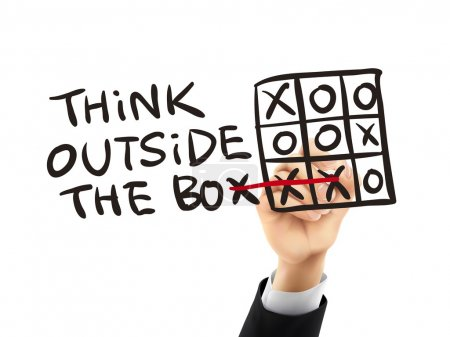think outside the box written by 3d hand
