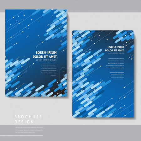 high-tech brochure template design