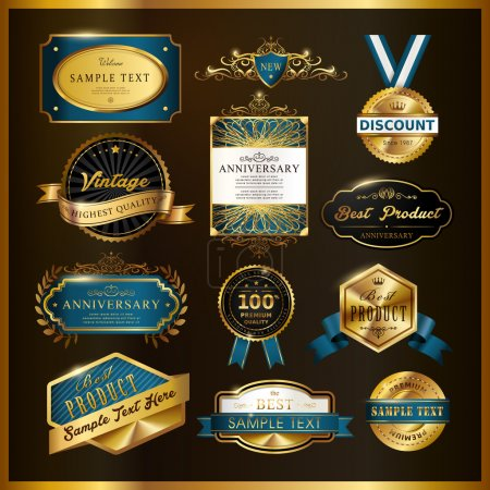 gorgeous premium quality golden labels collection