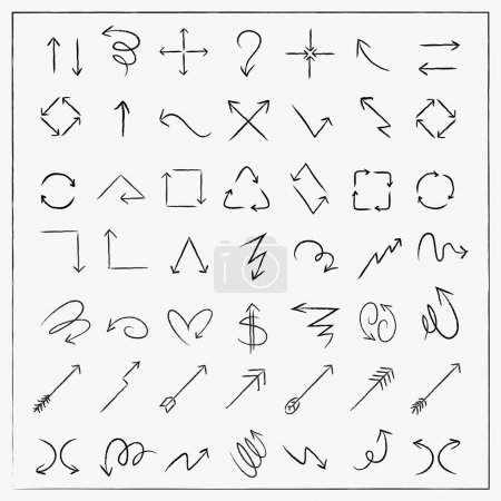 sketch style arrows set collection