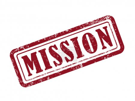 Stamp mission in red