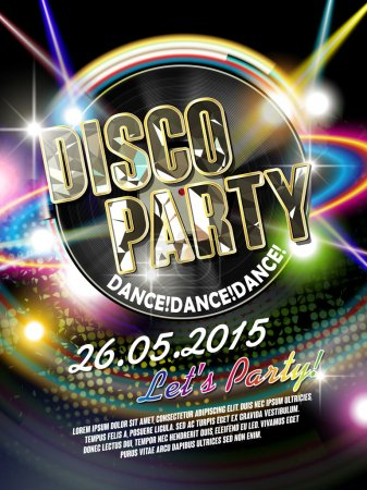gorgeous disco party poster