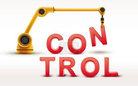 industrial robotic arm building CONTROL word