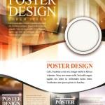 Modern poster template design with glitter translu...