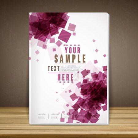 trendy book cover template design