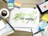 bon voyage written on paper