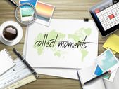 collect moments written on paper