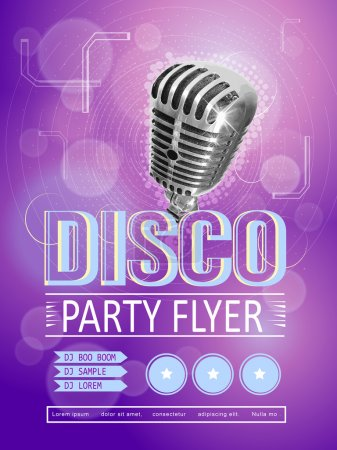 modern disco party poster design