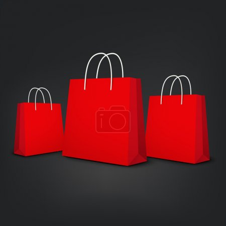 Orange shopping bags set