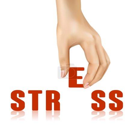 Stress word taken away by hand