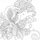 gorgeous bird coloring page
