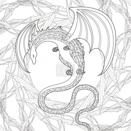 mystery dragon coloring page