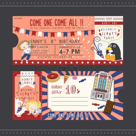 lovely birthday party invitation ticket