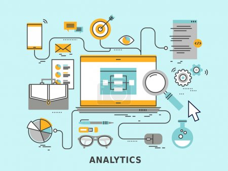 Illustration for Data analytics concept in flat design style - Royalty Free Image