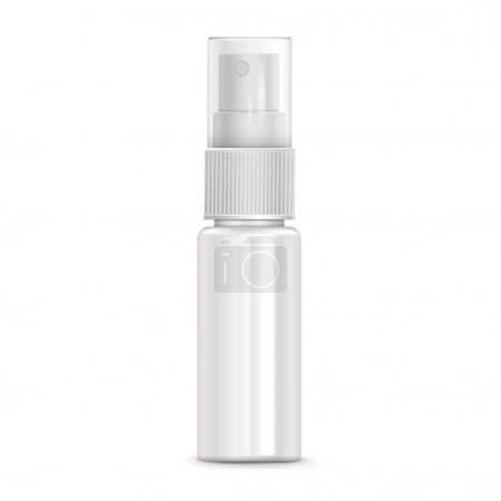 Illustration for Cosmetic spray bottle isolated on white background - Royalty Free Image