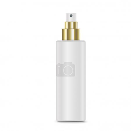 Illustration for Cosmetic white spray bottle isolated on white background - Royalty Free Image