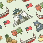 Taiwan seamless background