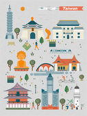 Taiwan landmarks design