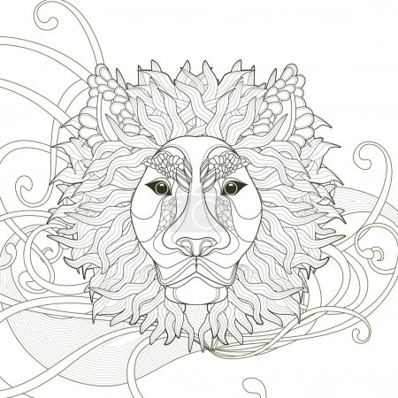majestic lion coloring page