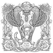 splendid elephant coloring page