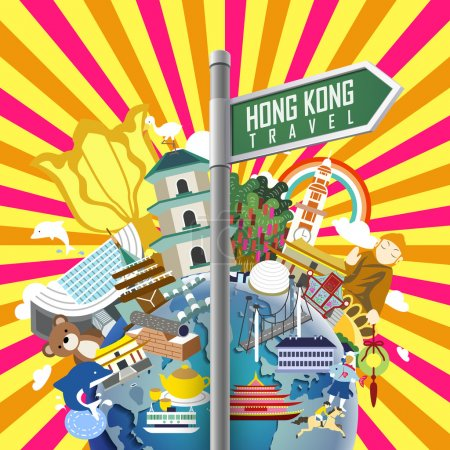 Hong Kong travel poster