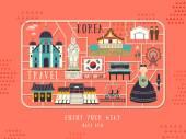 South Korea travel concept poster