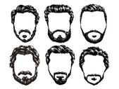 hair and beards set