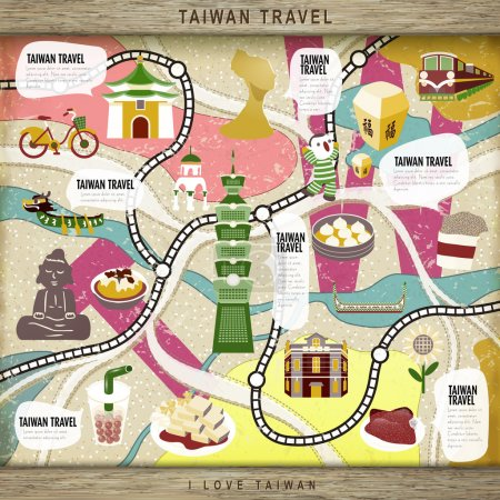 Taiwan travel concept board game