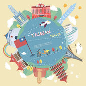 Taiwan travel poster design