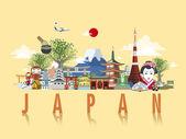 wonderful Japan travel poster