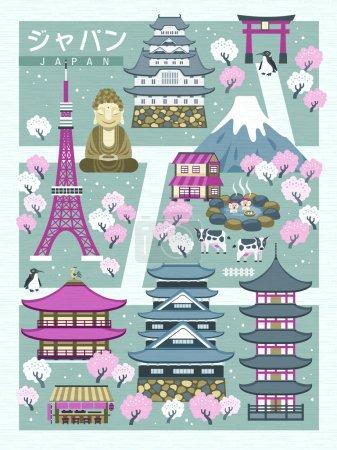 lovely Japan walking map