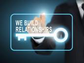 we build relationships key button