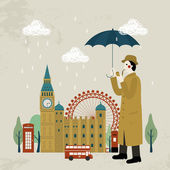 Lovely United Kingdom impression design - detective and attractions