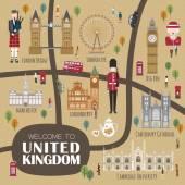 United Kingdom walking map