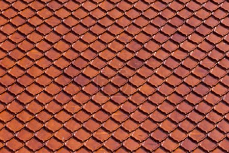 Clay roof tiles of Thai temple