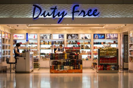 Duty free shop at Suvarnabhumi International Airport. Bangkok