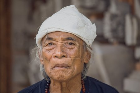 Portrait old man in Bali