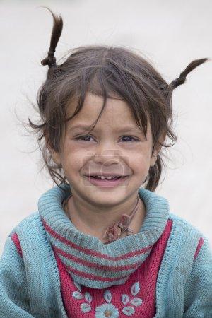 Beggar girl in Leh, India