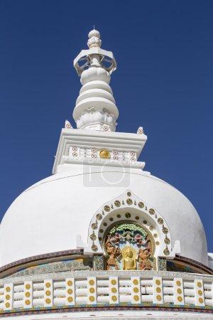 Photo pour Tall Shanti Stupa près de Leh, Ladakh, Jammu-et-Cachemire, Inde - image libre de droit