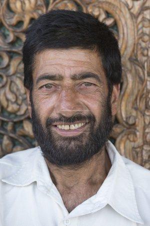 Portrait indian muslim man
