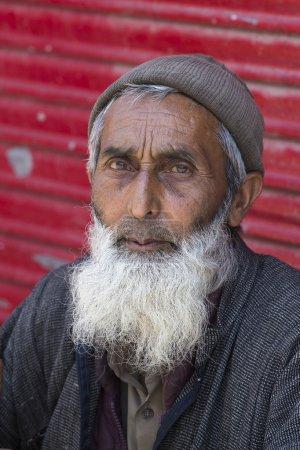 Portrait Indian man. Srinagar, Kashmir, India. Close up